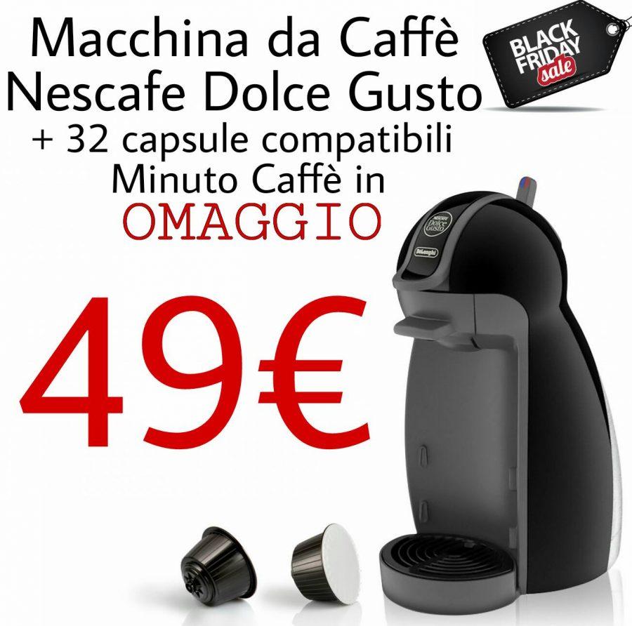 BLACK FRIDAY 2016 Minuto Caffè - Macchina da caffè Nescafe Dolce Gusto