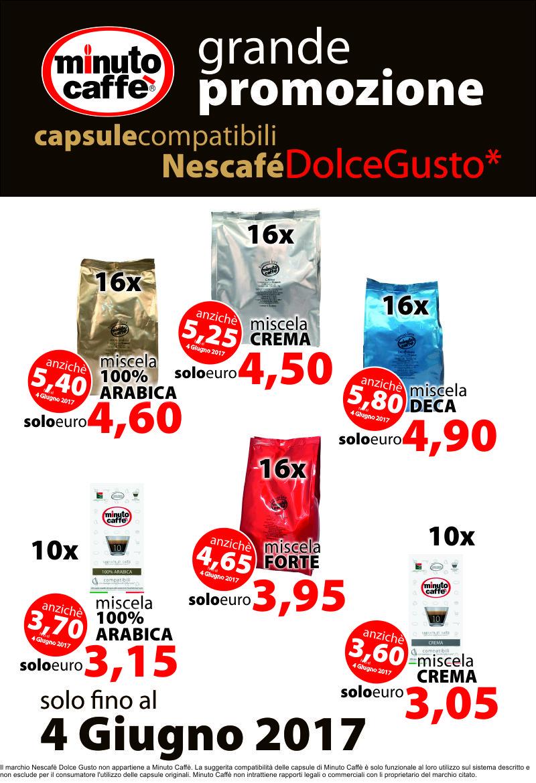 A Maggio è dolce il gusto delle promozioni Minuto Caffè