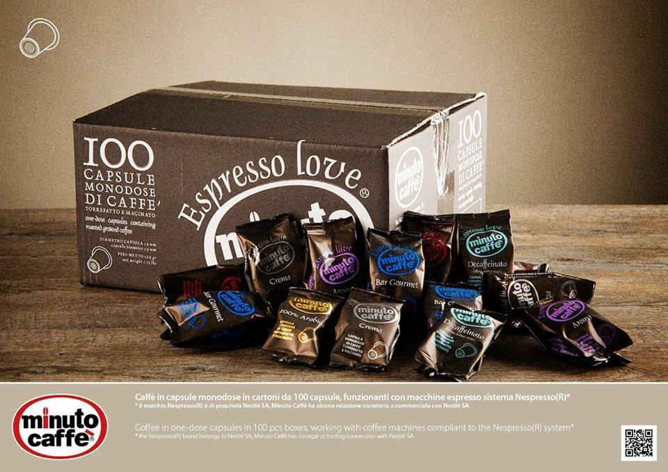 Capsule monodose Minuto Caffè compatibili Nespresso